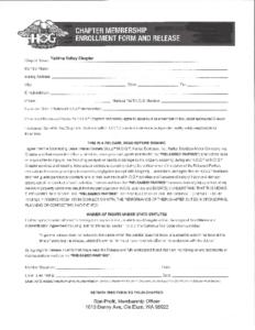 HOG Chapter Membership Form