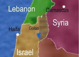 Image result for israel syria border map