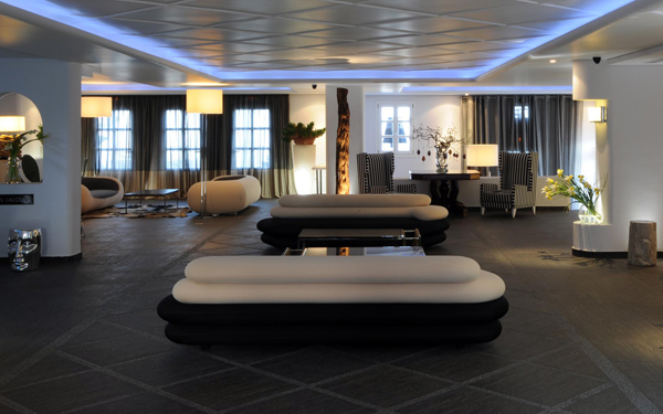 Aressana Spa Hotel & Suites, lobby, Santorini, Greece