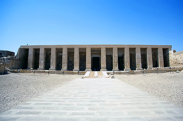the Temple of Seti I, aka The Great Temple of Abydos