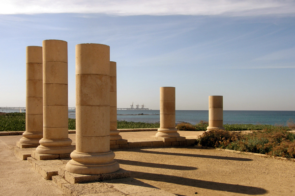 part of Herod's palace at Caesarea Maritima