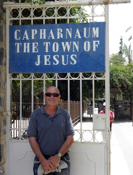 the incomparable Jacob, one of our guides in Israel, at Capernaum