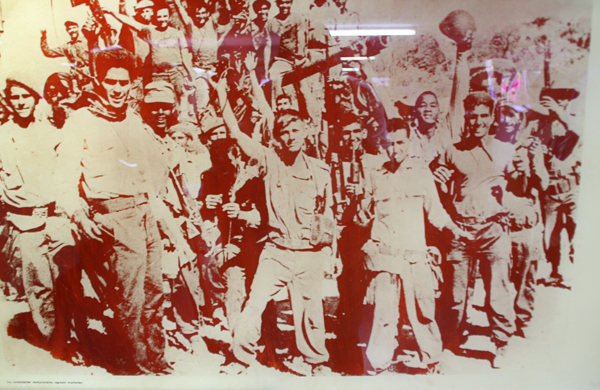 Bay of Pigs museum, victorious Cuban troops