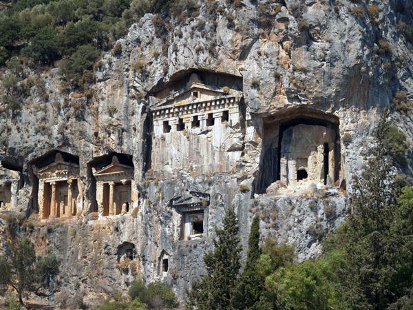 Lycian Tombs, Dalyan, Turkey