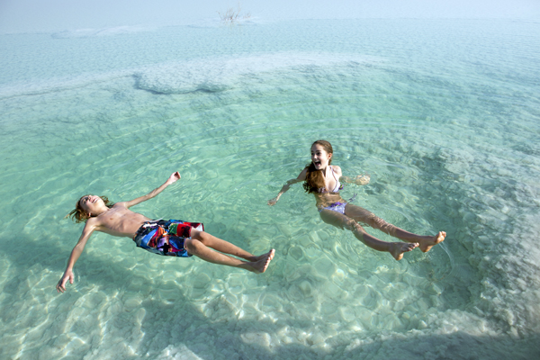 Because of high salinity, bathers float effortlessly in the Dead Sea. photo by Itamar Grinberg, courtesy of the Israel Ministry of Tourism