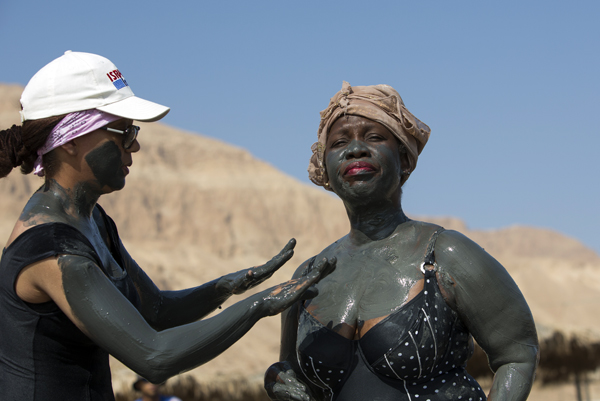 healing Dead Sea mud, photo by Itamar Grinberg, courtesy of the Israel Ministry of Tourism