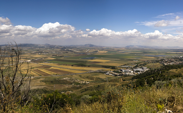 The Yizael Valley, where Deborah's army wiped out the Canaanite army. It lies between Mt. Tabor in the east and Mt. Carmel in the west. Deborah used the strengths of her enemies (heavy armor and chariots) against them by drawing them into the swampy muck of the Kishon River plain, which cuts through the valley.