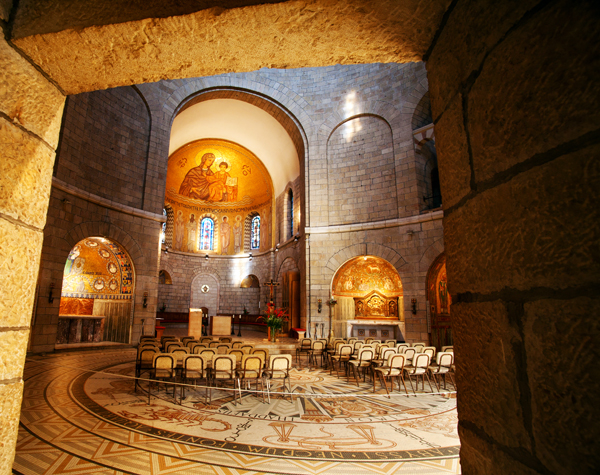 Dormition Abbey, Jerusalem, photo by Noam Chen, courtesy of the Israel Ministry of Tourism