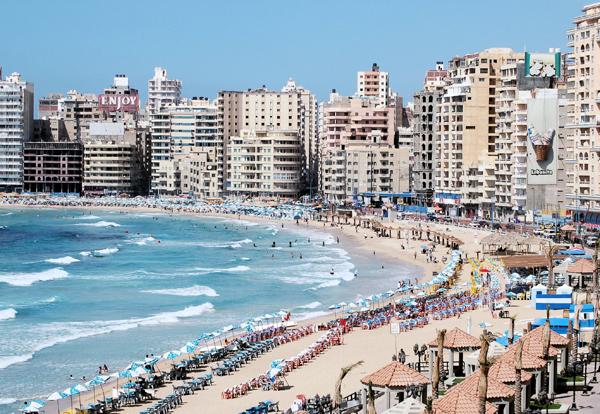 Mediterranean waterfront, Alexandria