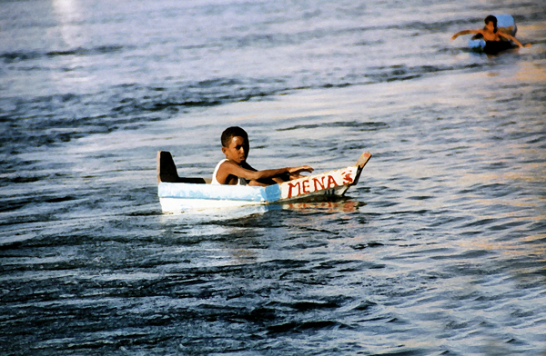 A Ya'lla Tours colleague took this picture years ago and it's still a company favorite. We call him Moses. Little boys paddling the mighty Nile in tiny homemade boats is a common site.