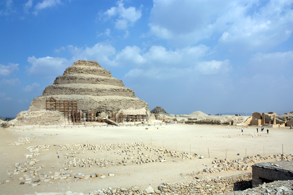 the Step Pyramid at Sakkara