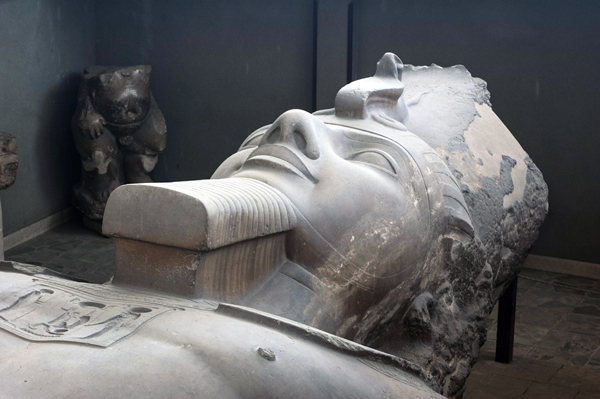 Recumbent Ramesses the Great at Memphis