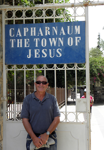 our guide Jacom at Capernaum
