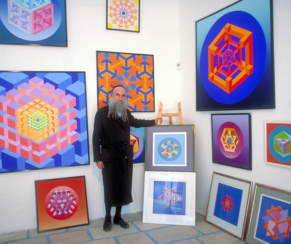 David Friedman at his Kosmic Kabbalah gallery in Safed