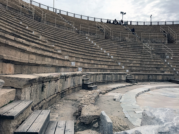 another shot of the theater at Caesarea Maritima