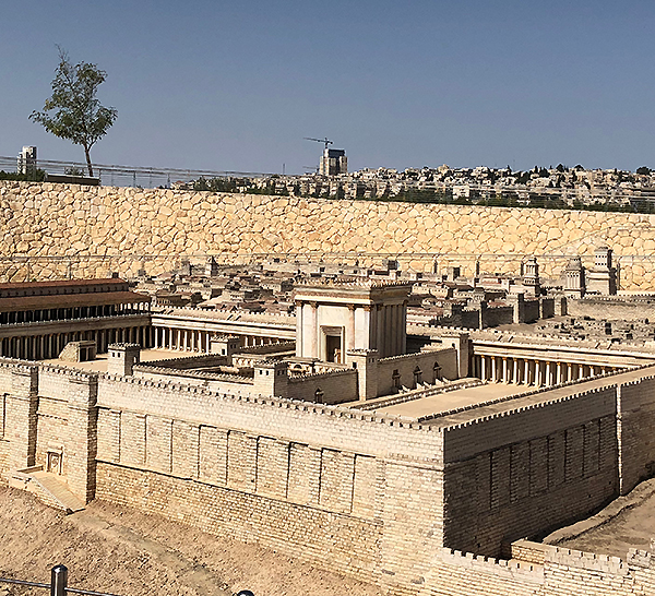 scale model of 1st century Jerusalem at the Israel Museum