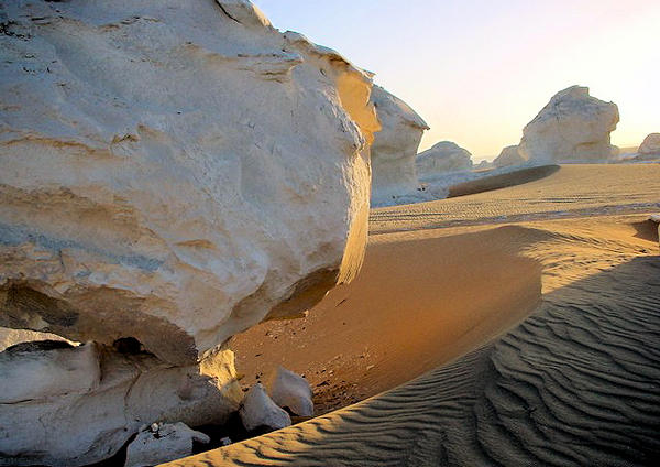 the White Desert, Egypt