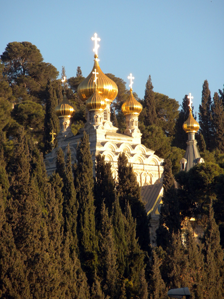 St. Mary Magdalene Russian Orthodox Church, Mt. of Olives, Jerusalem