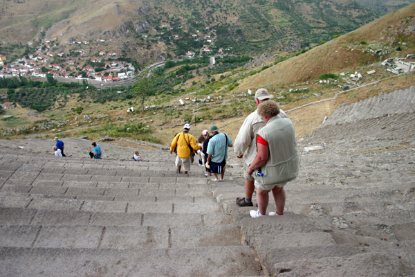 Pergamum theater, very steep!