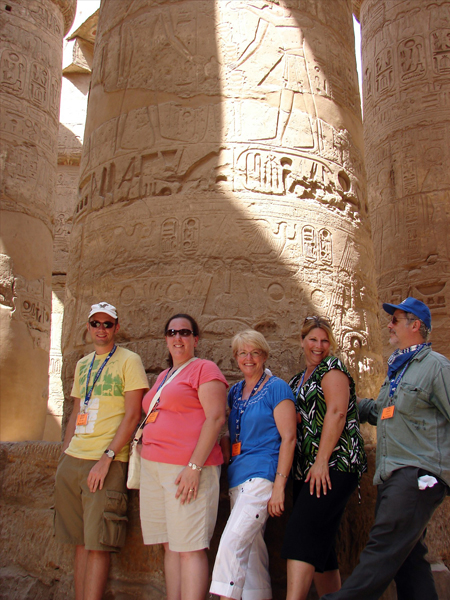 at Karnak Temple in Luxor, Egypt