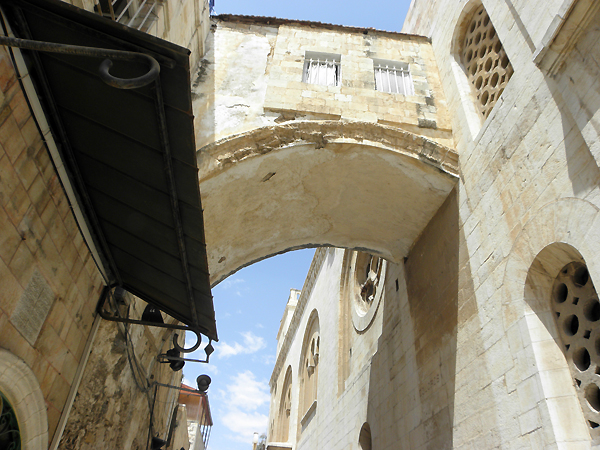 The arch outside the Ecce Hommo Church (Behold the Man!), where Pilate presented the bound and bloodied Jesus to the crowd