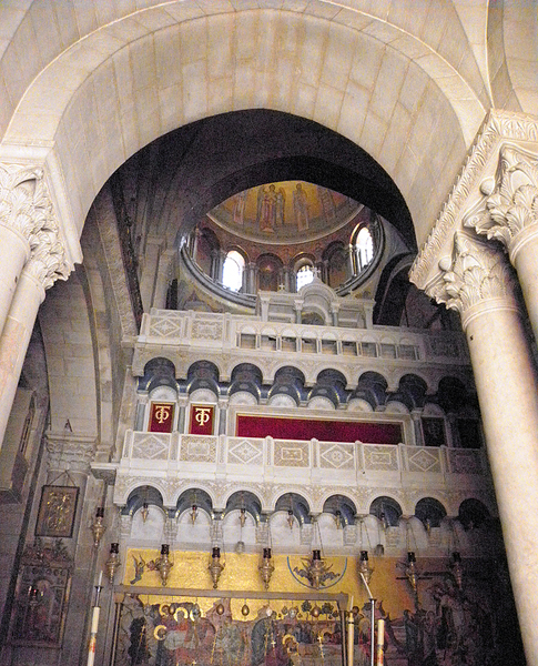inside the Holy Sepulchre Church, Jerusalem