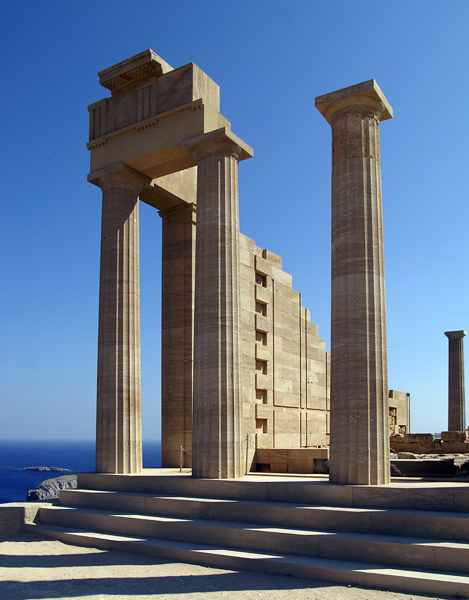 Temple of Athena at Lindos, love the clean Doric lines!
