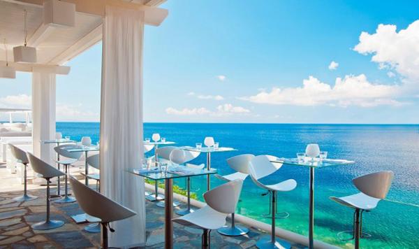 Le Club Restaurant, Petasos Beach Resort & Spa, Mykonos