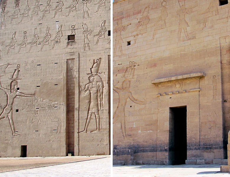 See what I mean? Edfu Temple is on the left and Philae on the right, I think...