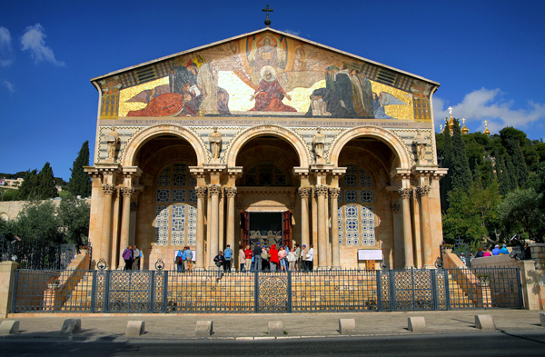 Church of All Nations, Mount of Olives, Jerusalem, photo by Noam Chen, courtesy of Israel Ministry of Tourism