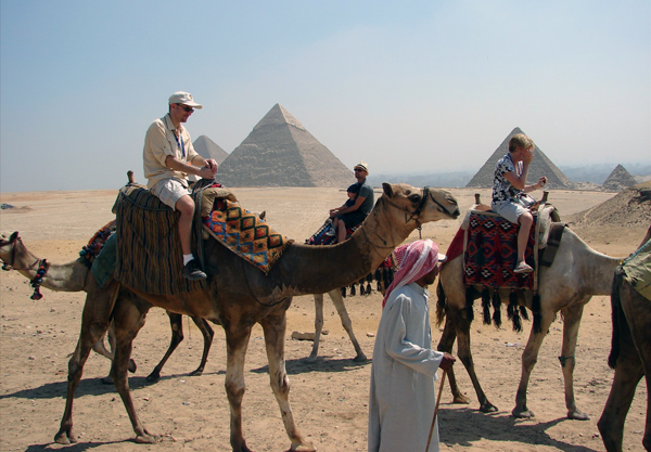 Ya'lla travelers at Giza
