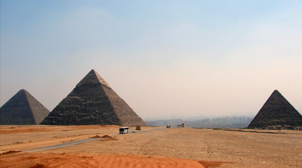 the Giza Pyramids, Egypt