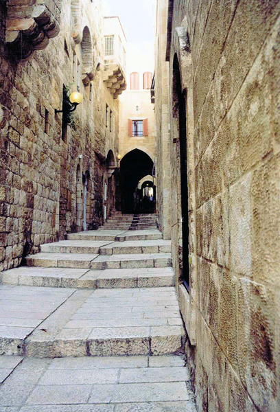 the Via Dolorosa (Way of Sorrows or Way of the Cross), the route walked by Jesus to his crucifixion