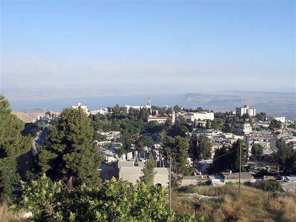 the view from Safed, looking out over the Sea of Galilee, photo courtesy of the Israel Ministry of Tourism