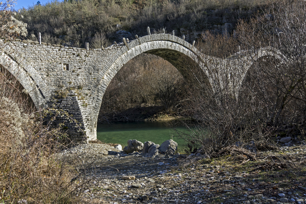 one of many stone bridges in the Zagori