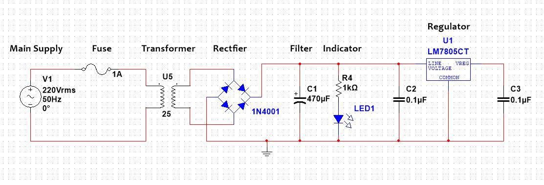 Design 5V 500mA power supply
