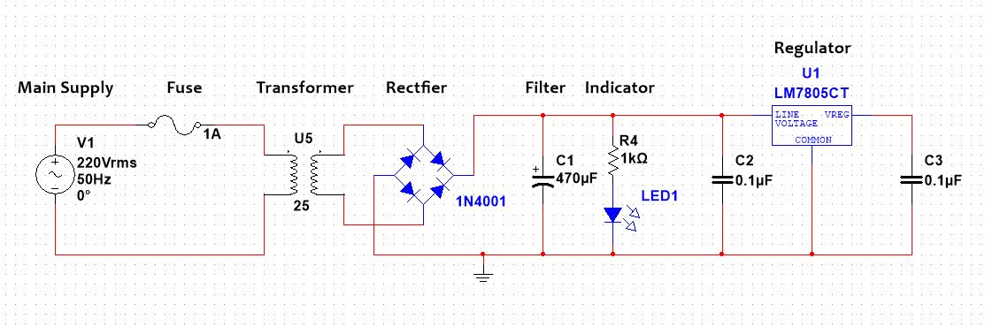 simple power supply diagram design 5v dc power supply  easy step by step guide   design 5v dc power supply  easy step by