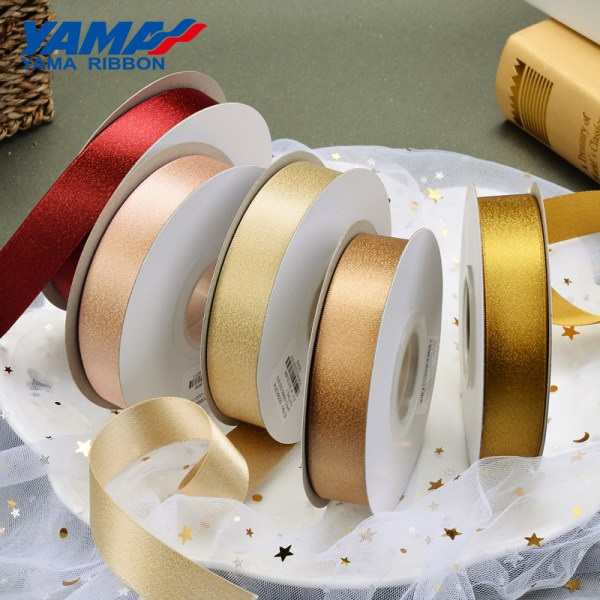 Gold Purl Satinband