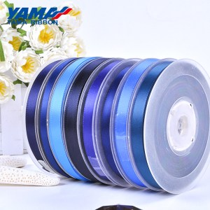 blue satin ribbon