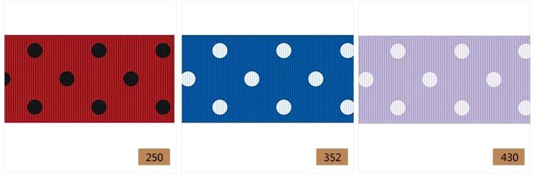 38mm dot ribbon