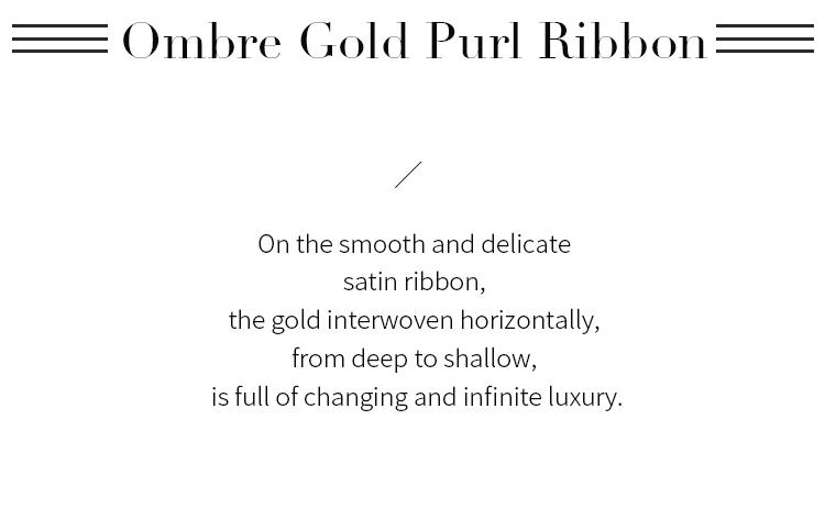Ombre Gold Purl Ribbon
