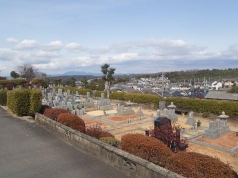 景色のいい墓地です