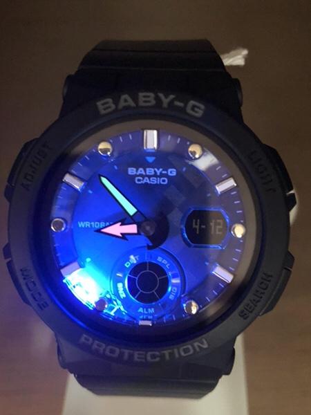 baby g 時計 バックライト