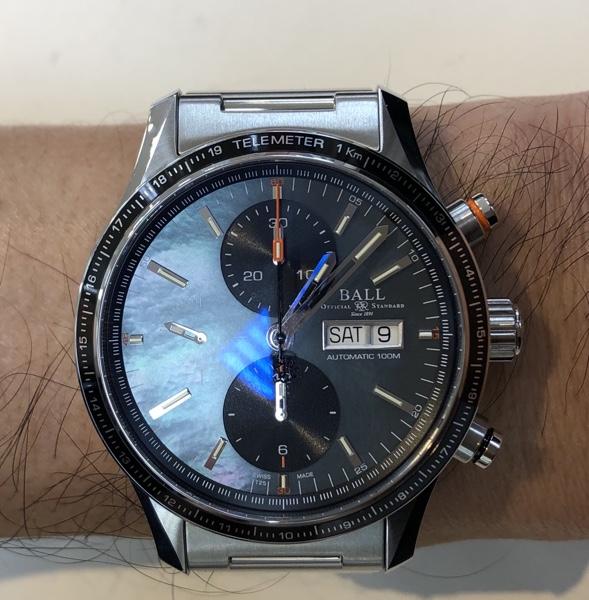 腕時計 BALLウォッチ ストームチェイサープロ/ブラックMOP