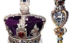 英国王室の至宝、王笏と王冠