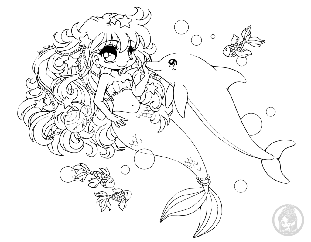 Mermay Mermaid Coloring Pages By Yampuff Yampuff S Stuff