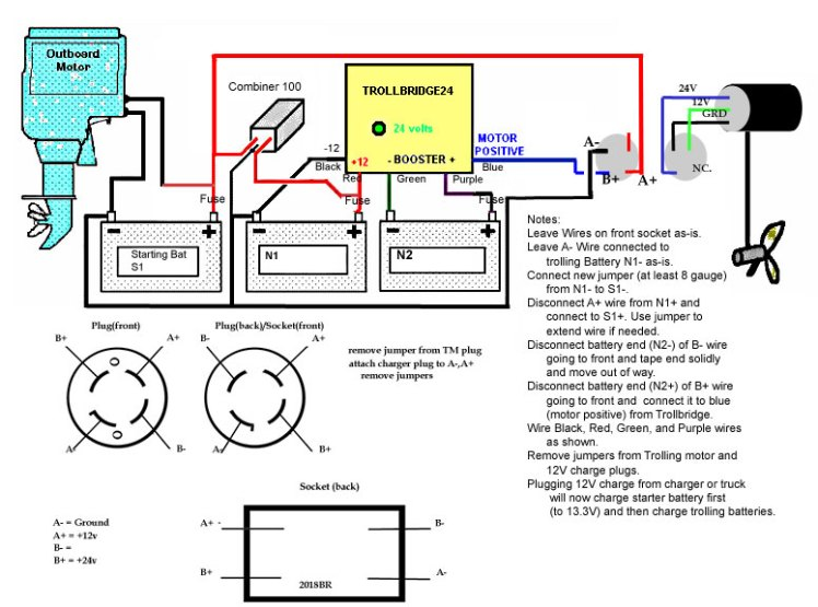 24 volt wiring diagram for trolling motor wiring diagram how to wire 24 volt trolling motor and 12 power pole on 2
