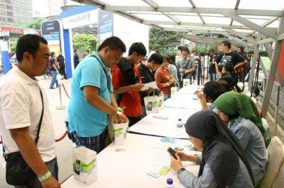 Transaksi pembelian Galaxy Y di eX Jakarta 22 Oktober 2011