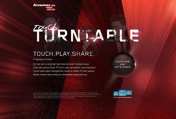 Lenovo Touch Turntable
