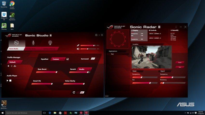 sonic studio and sonic radar